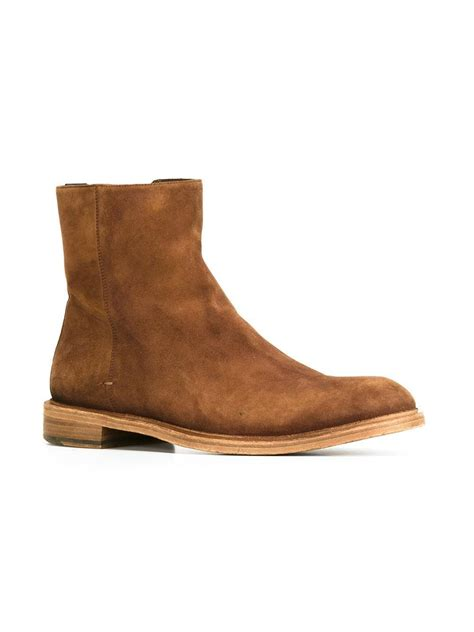 handmade brown suede chelsea boot ankle boot