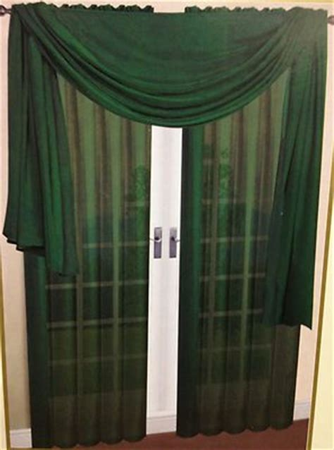 hunter green curtain panels 2 pc solid hunter green voile sheer window panels drapes