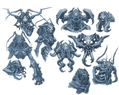 design concept art darksiders bosses