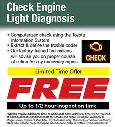 Free Check Engine Light Diagnosis by 1000 Images About Toyota Service Center On
