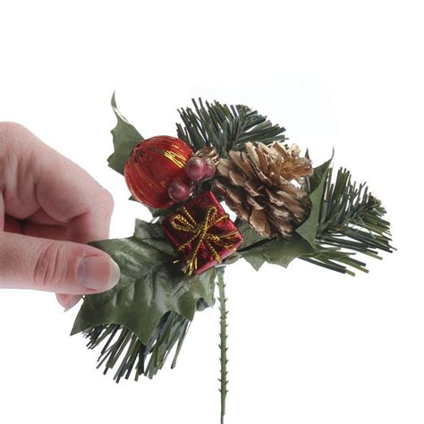 christmas floral picks and stems festive artificial pine picks and stems floral supplies craft supplies