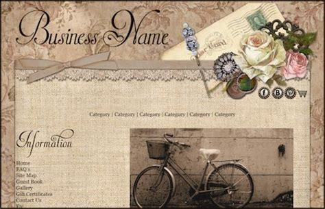 vintage home decor websites shabby lane shops web design hosting and marketing
