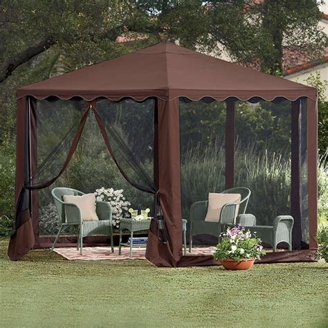 Gazebo On Patio Gazebo Canopy Patio Tent Outdoor Furniture Deck Frame Wedding Graduation Ebay