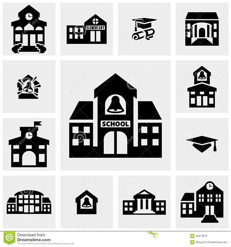 House Building Plans With Prices by Building Vector Icons Set On Gray Stock Vector