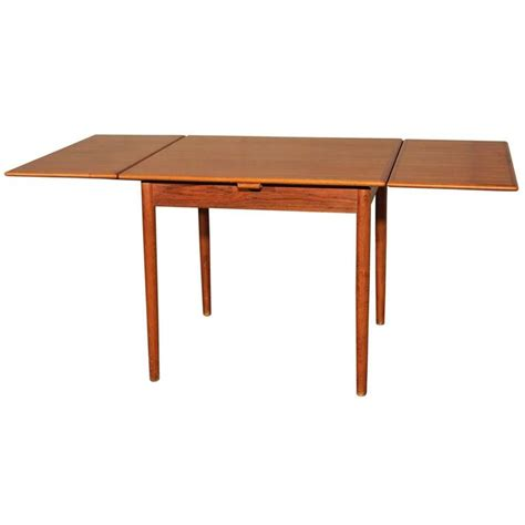 expanding square table danish modern teak square expanding dining table at 1stdibs