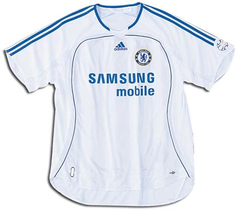 Chelsea Away 2007 chelsea jerseys 2006 2007 white and blue home jersey picture