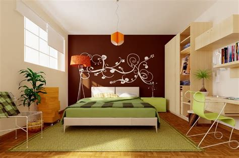 green brown orange modern bedroom interior design ideas - Green And Brown Bedroom Walls