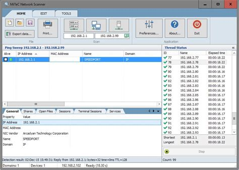 network scan mitec network scanner advanced ip netbios and snmp