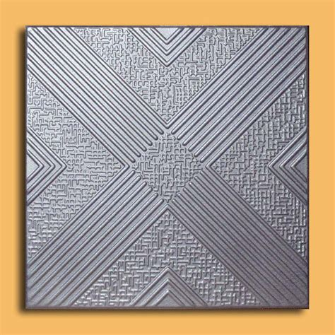 styrofoam ceiling tile malta silver tin look glue up