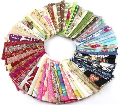 Patchwork Charm Packs - 50pieces random color 10cm 10cm remnant cloth fabric
