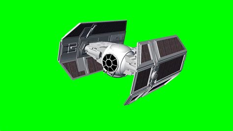 wars tie fighter fly by with sound free green