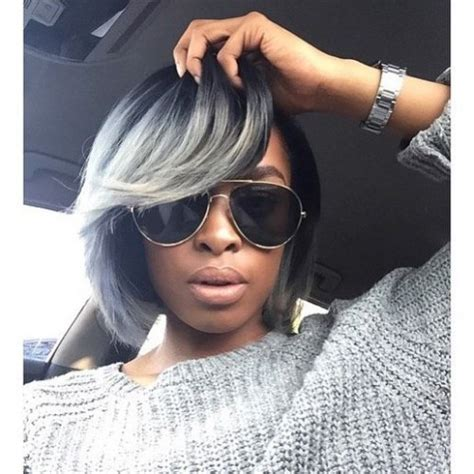 blue gray burr cut hair 50 bob hairstyles for black women hairstyles update