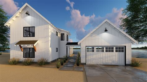 modern detached garage plan 62650dj modern farmhouse plan with 2 beds and semi