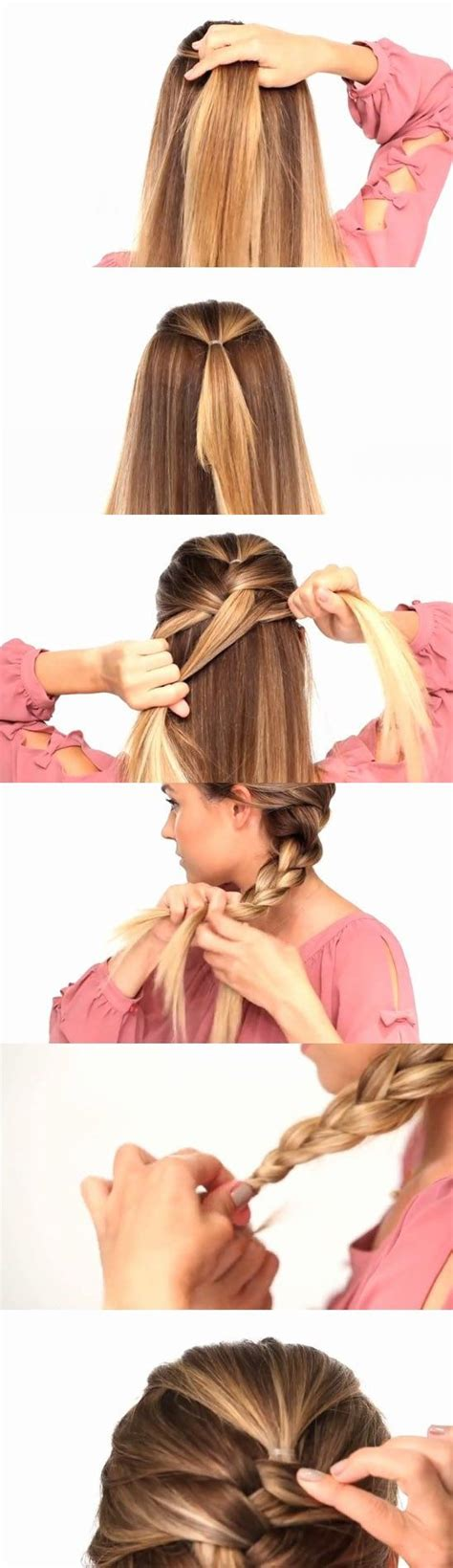 how to do braid own hair yourself with yarn for older women easy way to french braid your own hair hair do s for