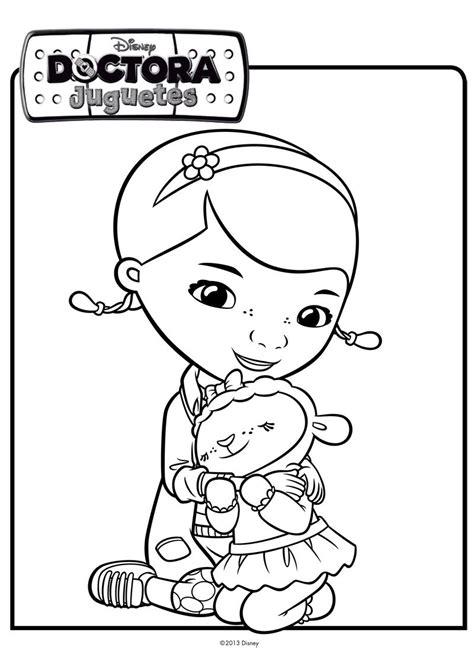 imagenes para colorear la doctora juguetes la doctora juguetes abraza a la ovejita dibujos de disney