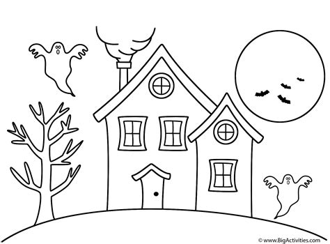 how to draw a haunted house 15 steps with pictures haunted house coloring page halloween