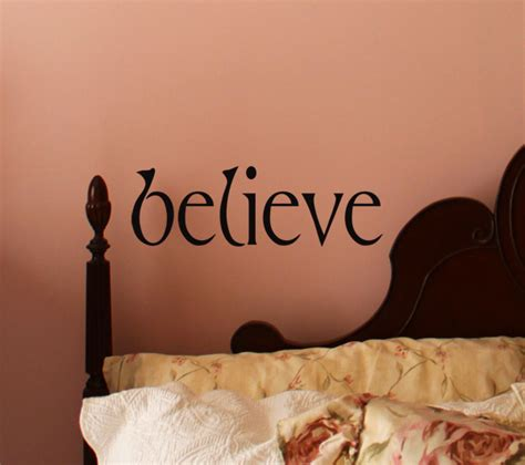 simply words believe wall decals trading phrases