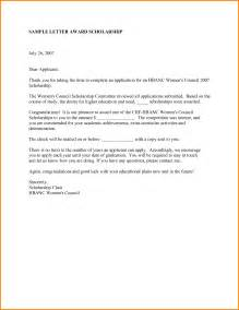 scholarship award letter template 10 scholarship award letter letter template word
