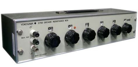 what is resistor box yokogawa 2786 decade resistance box decade boxes instrumart