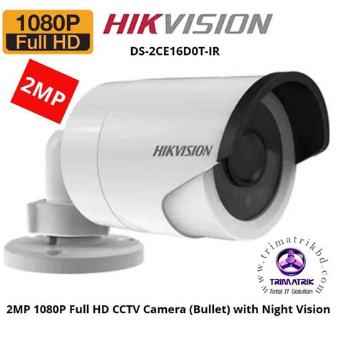Cctv Hikvision Ds 2ce16dot Irp Turbo Hd 1080p Hd Kmwpq hikvision ds 2ce16d0t irp hd1080p 2mp hd trimatrik multimedia