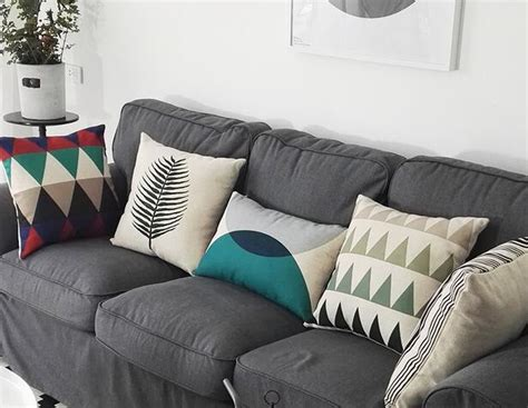 pillows for grey couch colorful geometric decorative throw pillows for grey couch