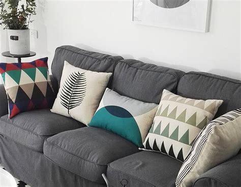 grey sofa throw pillows colorful geometric decorative throw pillows for grey