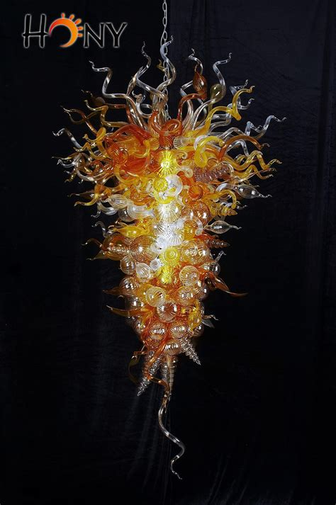 Online Cheap Chihuly Style Modern Mount Hand Blown Glass Chihuly Glass Chandelier