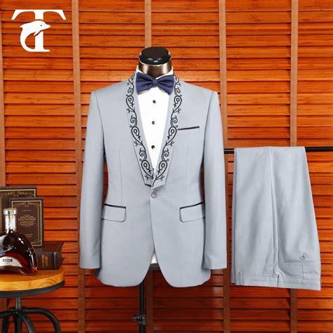 2016 Coat Pant Designs Milk White Wedding Suit For Men