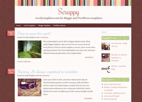 blogger themes templates free scrappy blogger template lovely templates