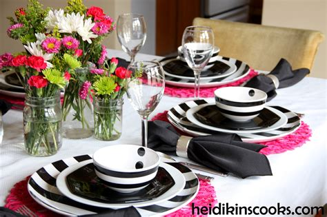 White Table Settings Black And Pink Wedding Table Settings Www Pixshark Images Galleries With A Bite