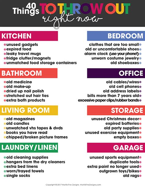 organize my house checklist 40 things you should throw our right now organize room