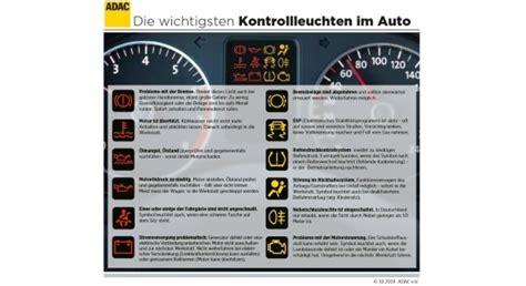 Kontrollleuchten Auto Und Ihre Bedeutung by Das Bedeuten Die Kontrollleuchten Im Auto