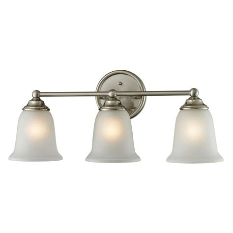 bathroom light bars brushed nickel titan lighting sudbury 3 light brushed nickel wall mount
