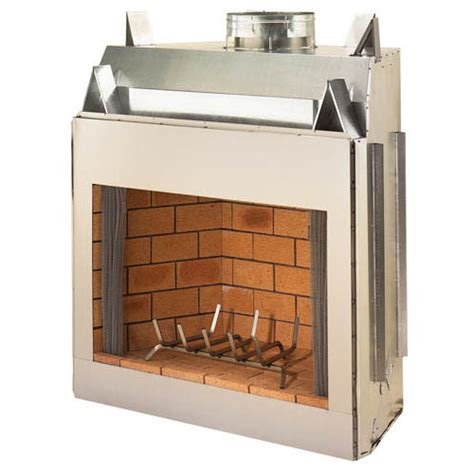 Metal Wood Burning Fireplace by Fmi Portofino 50 Inch Stainless Steel Mosaic Masonry
