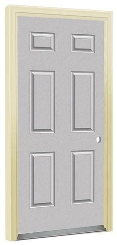 Exterior Doors Menards Commander 174 Cm 1 32 Quot X 80 Quot Primed Steel 6 Panel Prehung Exterior Door Left Inswing