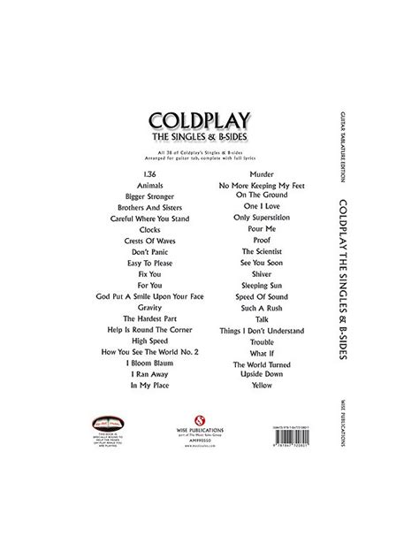 download mp3 coldplay crest of waves coldplay the singles b sides tab guitar tab sheet