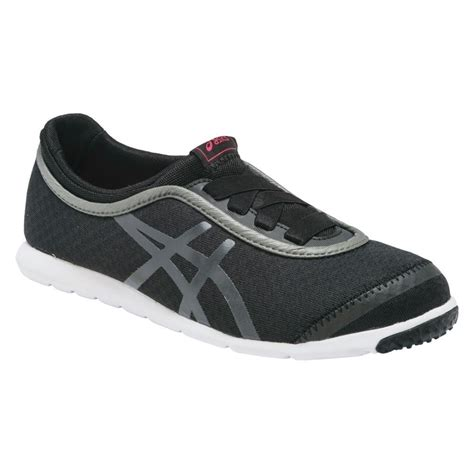 buy asics metro walk womens casual shoes black slashsport