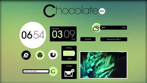Chocolate Suite 1.0 [Rainmeter Skin] by jlynnxx on DeviantArt