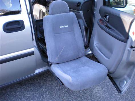 handicap car seat 2008 chevrolet handicap bruno uplander passenger
