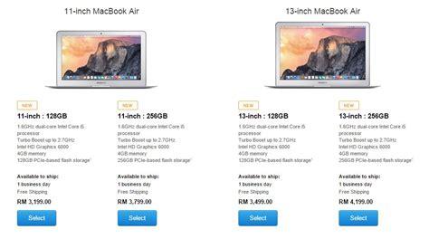 Macbook Di Malaysia apple menaikkan harga jualan macbook air dan macbook pro