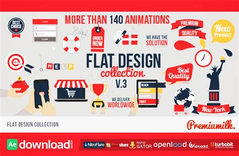 flat design after effect project flat design free download videohive project free after