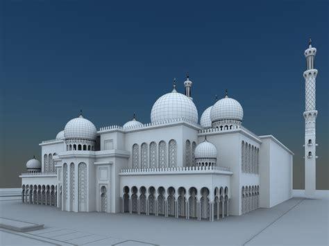 islamic pattern 3d model free mosque 3d model max cgtrader com