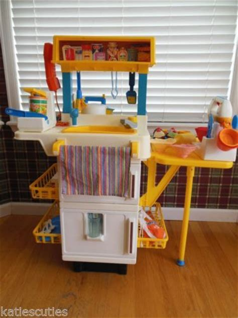 1987 Fisher Price Kitchen Set by Vintage Fisher Price Play Kitchen With Food Cupcake