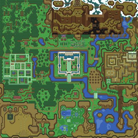 legend of zelda world map zelda capital a link to the past light world maps