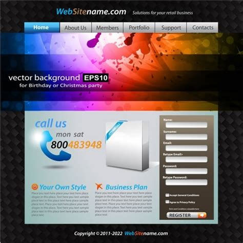 dynamic web template vector free vector in encapsulated