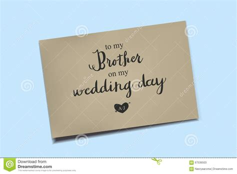 card on day thank you card on my wedding day stock illustration