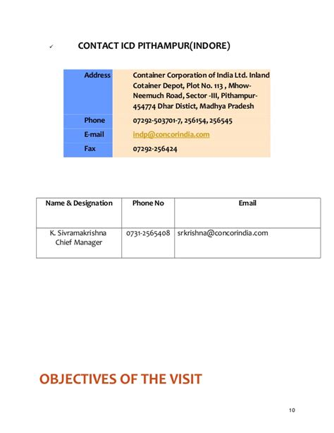 Industrial Visit Report Format For Mba by A Sle On Industrial Visit Report For Mba Students By