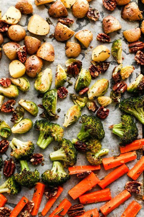 sage garlic pecan roasted vegetables  love vegan