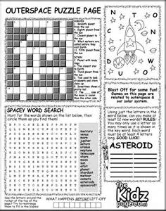 outer space activity puzzle page sheet free coloring