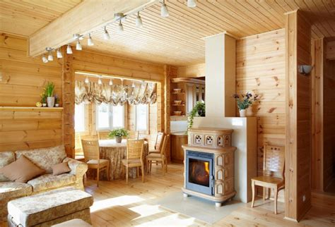 inside of a house inside a cosy finnish wooden house by rovaniemi log houses